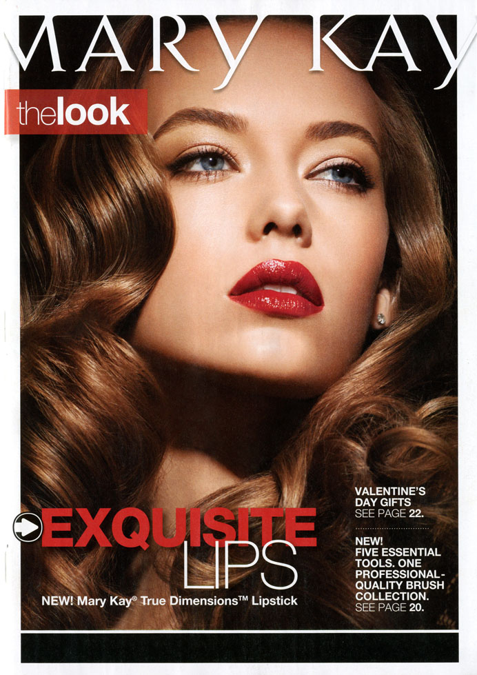 0 response to hannah ferguson on the cover of the new mary kay catalog