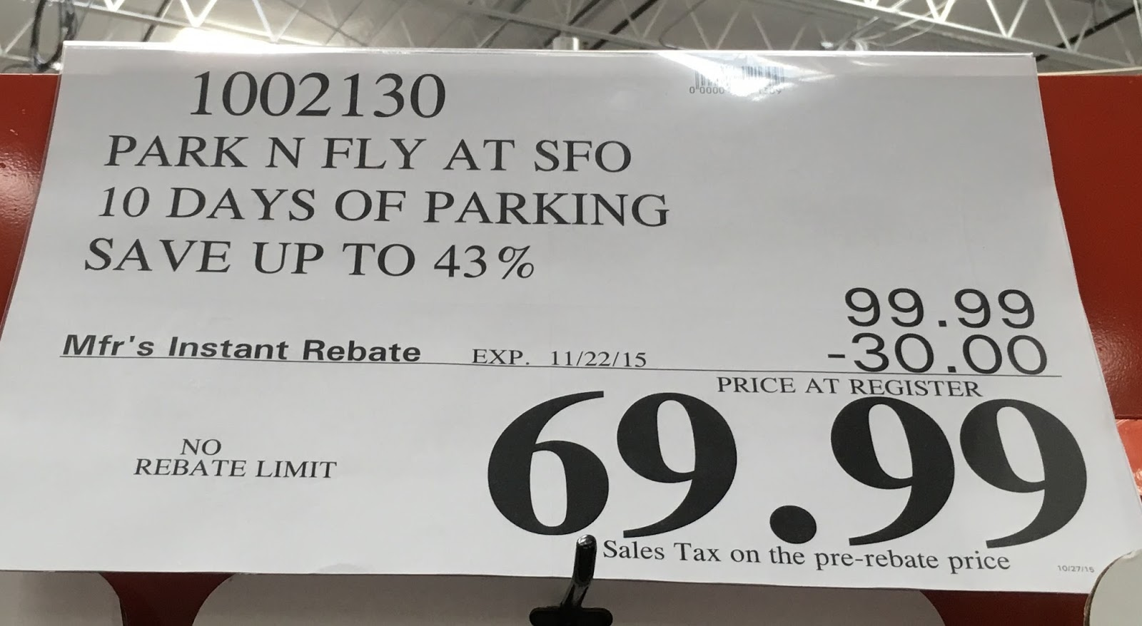 Sfo parking coupon park and fly