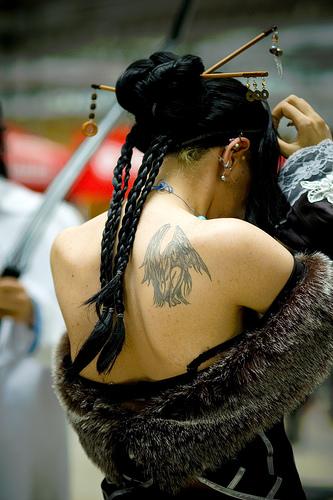 Amazing girl tattoo design