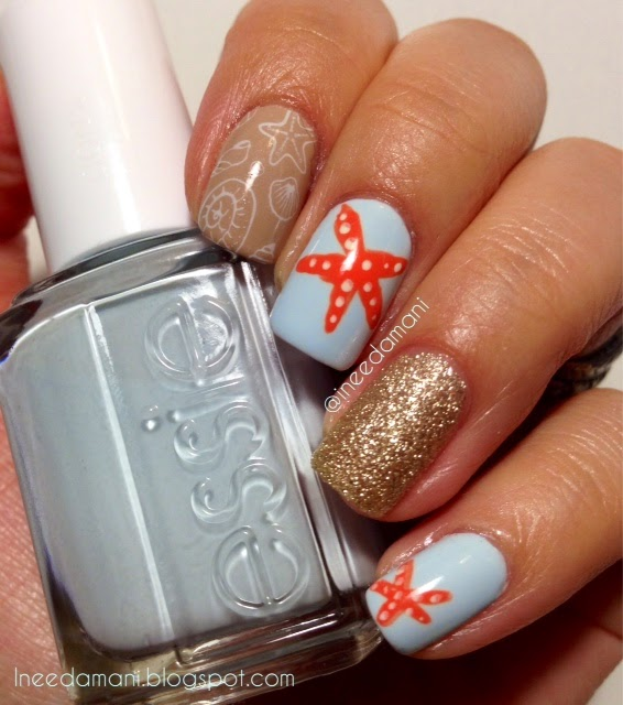 essie find me an oasis beach nails