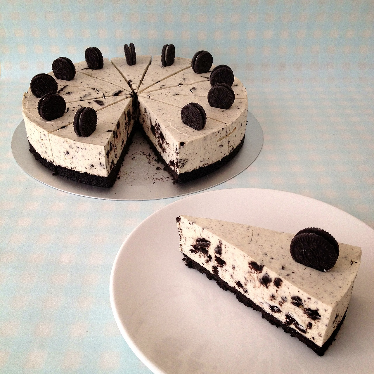 Another simple and easy cheesecake to make. I love Cookies & Cream ...