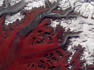Gletser Susitna di Alaska