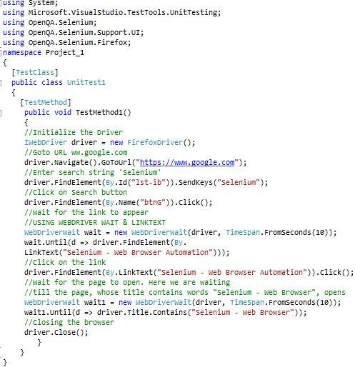 WebDriver Advanced Usage Selenium Documentation