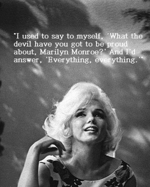 It is for women to deride and judge miss monroe more so than men