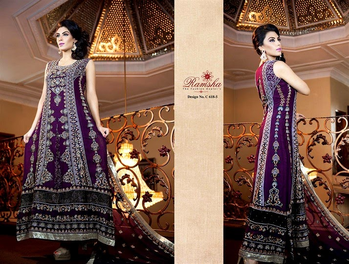 Embroidered Indian Dresses 2014
