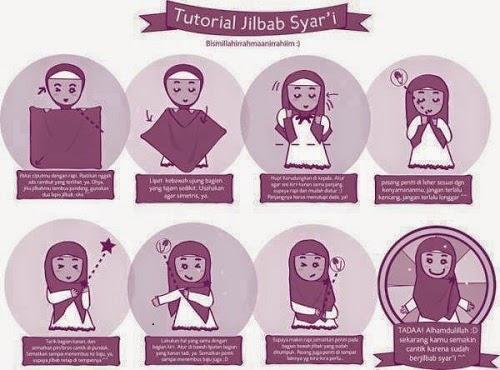 Tutorial Memakain Jilbab atau Hijab Syar'i-nur qolbu