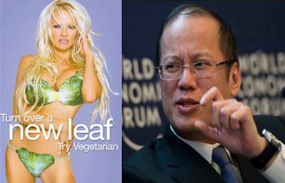 President Aquino declines Pamela Anderson dinner date invitation