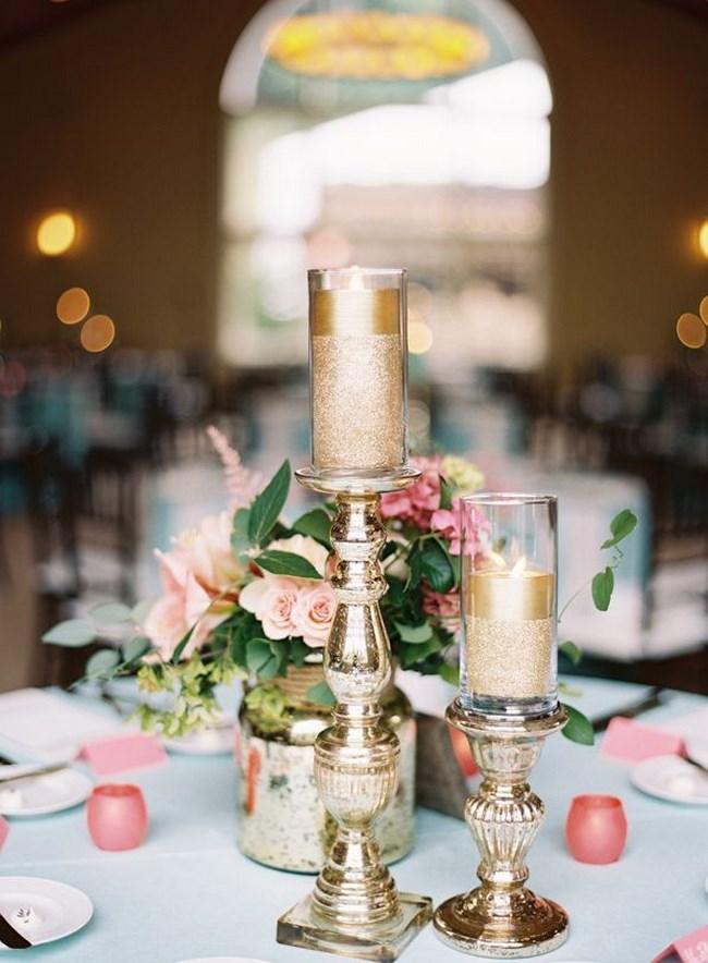 centros de mesa vintage para boda