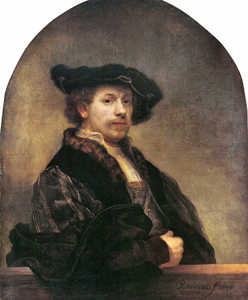 """Picture of """"Self Portrait"""" by Rembrandt, 1640"""