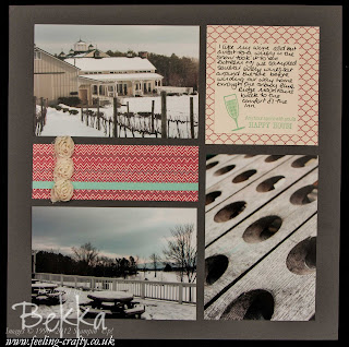 Chilled Wine Scrapbook Page featuring the More Amore Speciality Papers by UK based Stampin' Up! Demonstrator Bekka Prideaux - check her blog each Saturday for Scrapbooking Ideas
