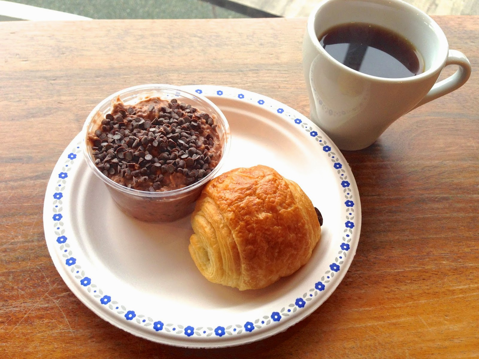 Cold Oats Pain Au Chocolat And Panama Esmeralda Coffee