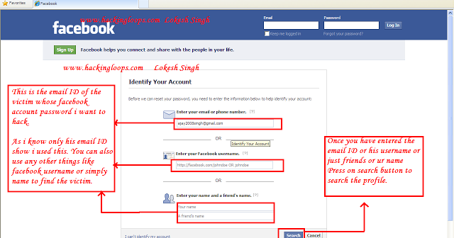 how to hack facebook account id and password? - Free Download ...