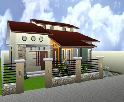 di depan rumah kita desain rumah minimalis modern 1 lantai
