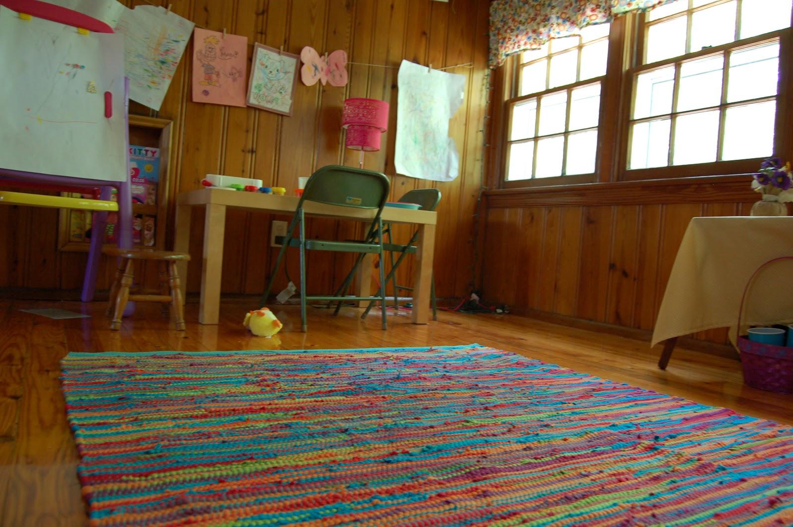 playroom update display and rug
