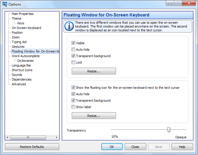 windows 10 virtual keyboard function keys