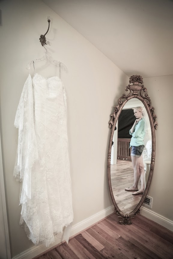 Bluemont Vineyard Wedding Dress Bride Getting Ready