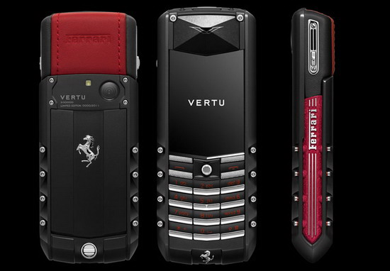 Vertu Luxury Phones Vertu Ascent Ti Ferrari Edition Phone