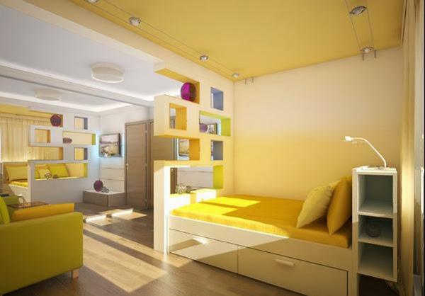 Desain Kamar Tidur Sempit Minimalis Sederhana Terbaru