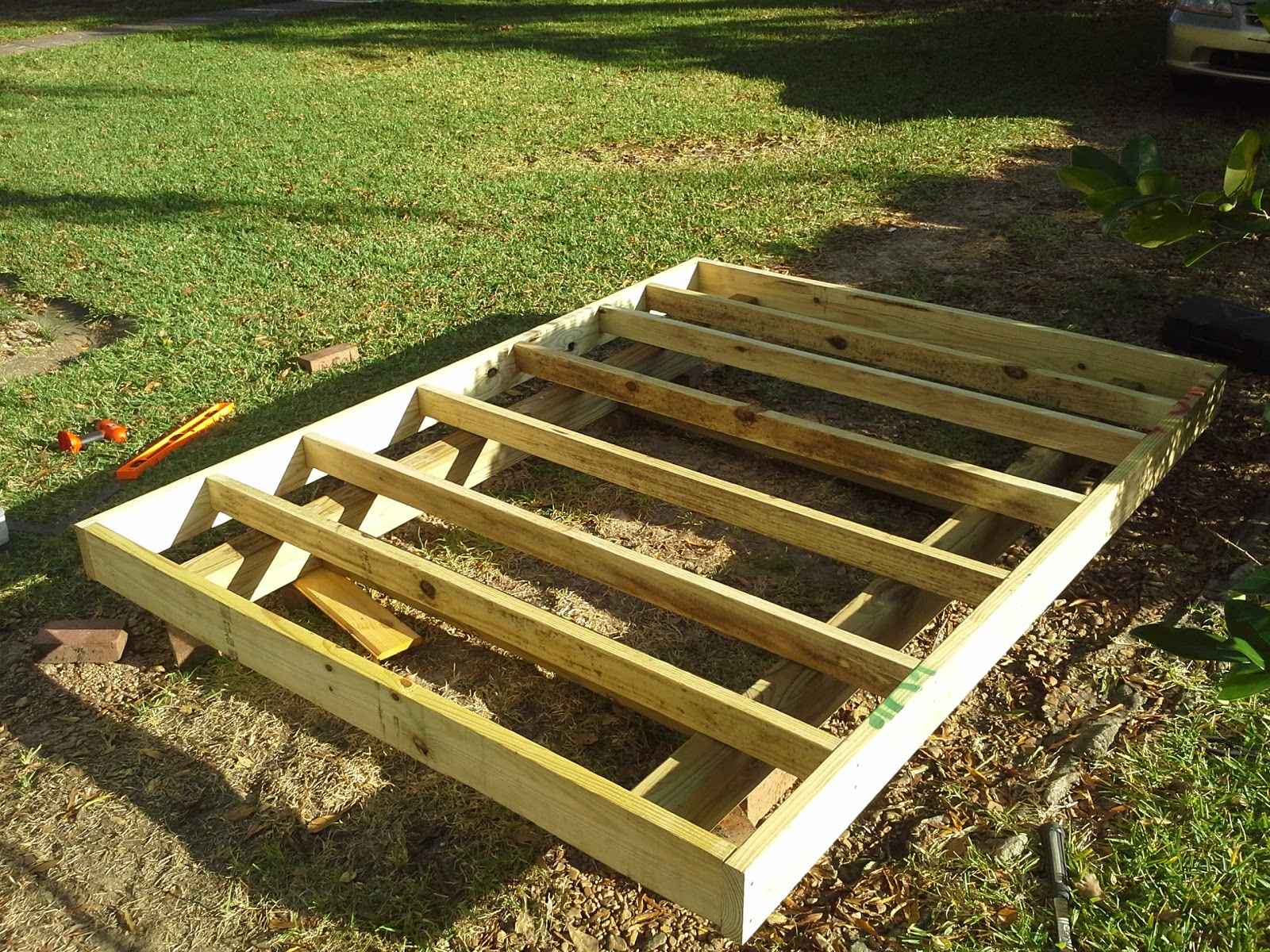 Donn: Shed Skid Foundation 8x10x12x14x16x18x20x22x24