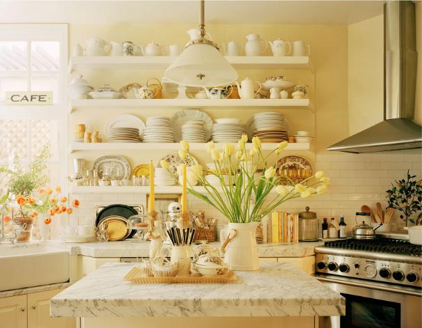 Pellmell cr ations des cuisines de couleurs for Peindre plafond ou mur en premier