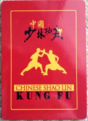 verso do Baralho de Kung Fu Shaolin