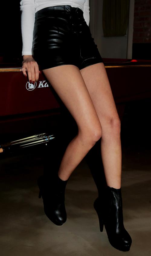 Lace-Up Mini Shorts