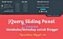 jQuery Sliding Panel dengan Membuka/Menutup untuk Blogger
