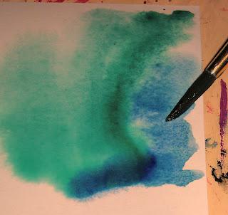 painting watercolor card DIY