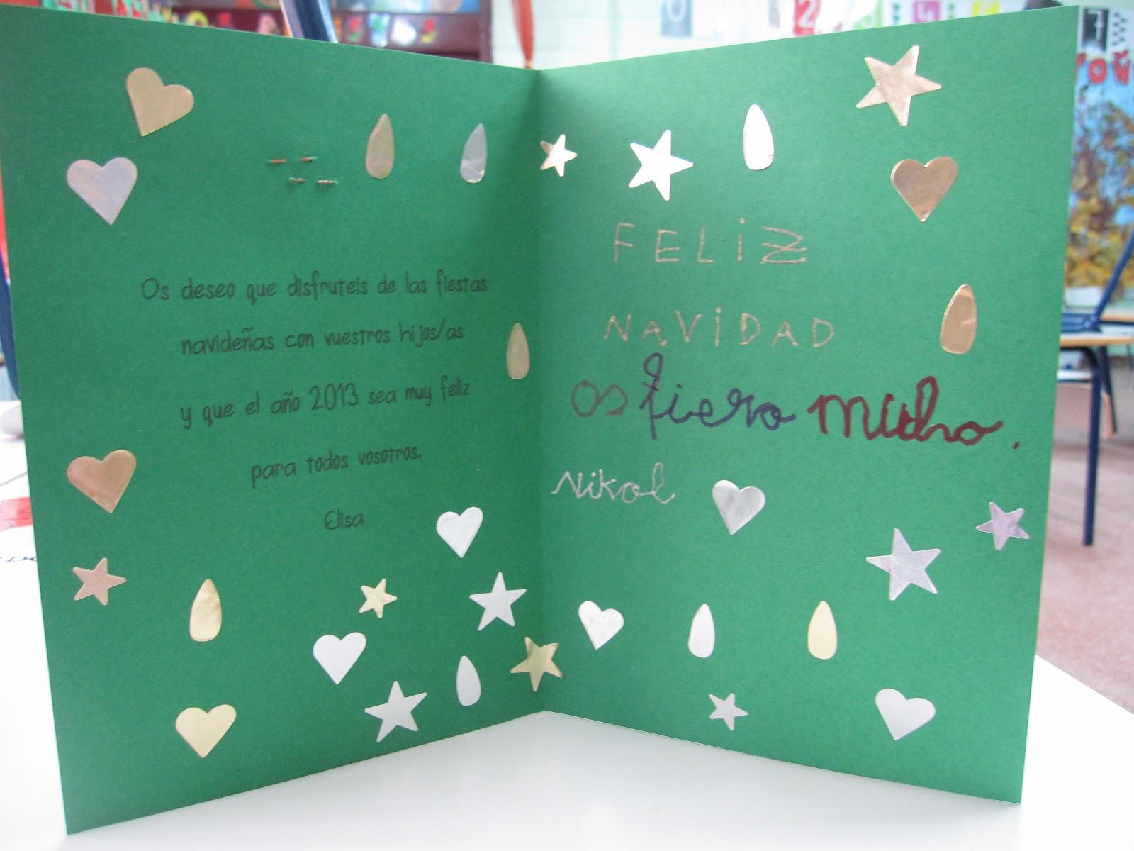 Enseñando a aprender. Aprendiendo a enseñar: Navidad: tarjeta y ...