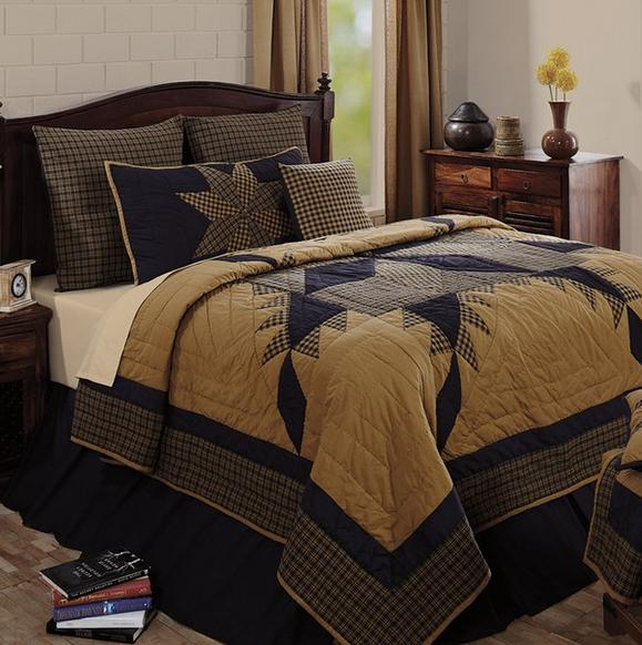 Farmhouse quilts brown bedroom ideas home decorating for 5 bedroom farmhouse