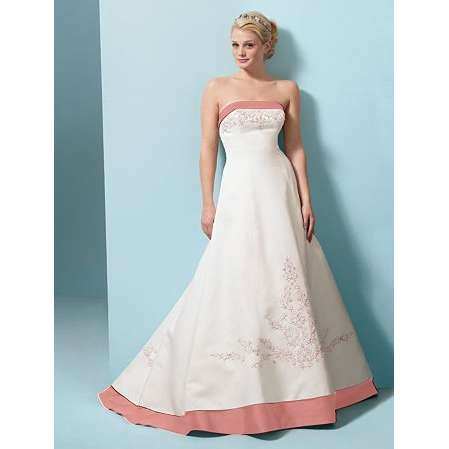 White and pink wedding dresses in mosaic view wedding for Simple pink wedding dress
