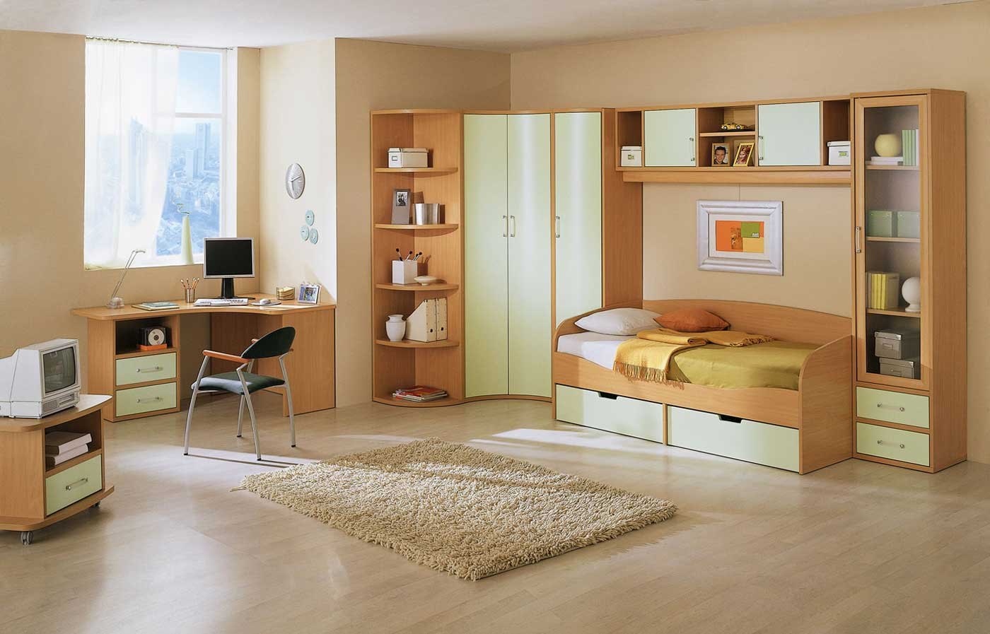 Kids Bedroom Sets: Combining The Color Ideas