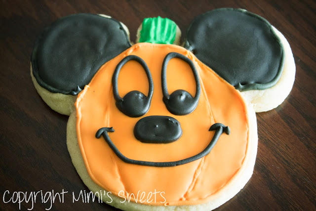Mickey Mouse Pumpkin Spiced Sugar Cookies