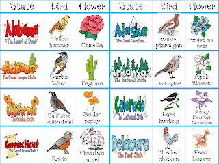 free state birds flowers trees printables state bird and flower printable cards from step into 2nd grade - State Printables