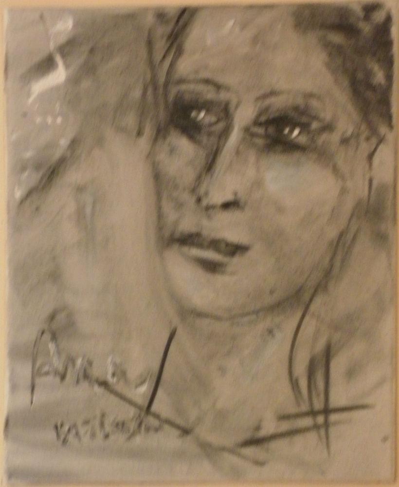 Portrait au fusain par Batistin artiste peintre sculpteur - alpes de haute provence