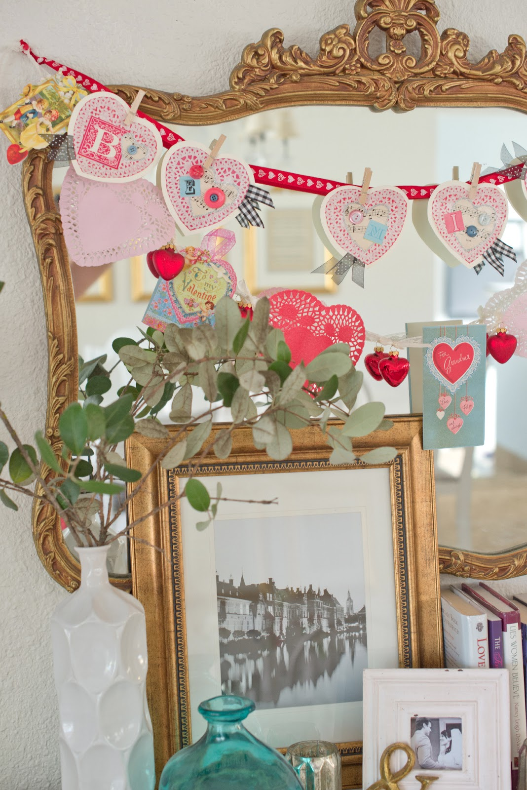vintage and handmade inspired valentines day decorations - Vintage Valentine Decorations