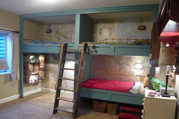 Ideias para quarto de 3 camas irm os decora o top for Bedroom ideas for 3 year old boy