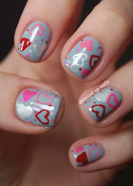 Valentine's Day heart nail art with Nail Candy pens