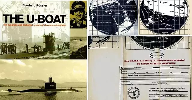 Χάρτες πρόσβασης στην Κοίλη Γη από  τους πρωτοπόρους εθνικοσοσιαλιστές, επιστολή απο πλήρωμα U – BOAT