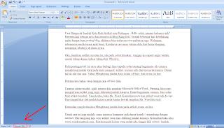 Cara Mengecek Jumlah Kata Pada Artikel atau Postingan dengan Ms. Word