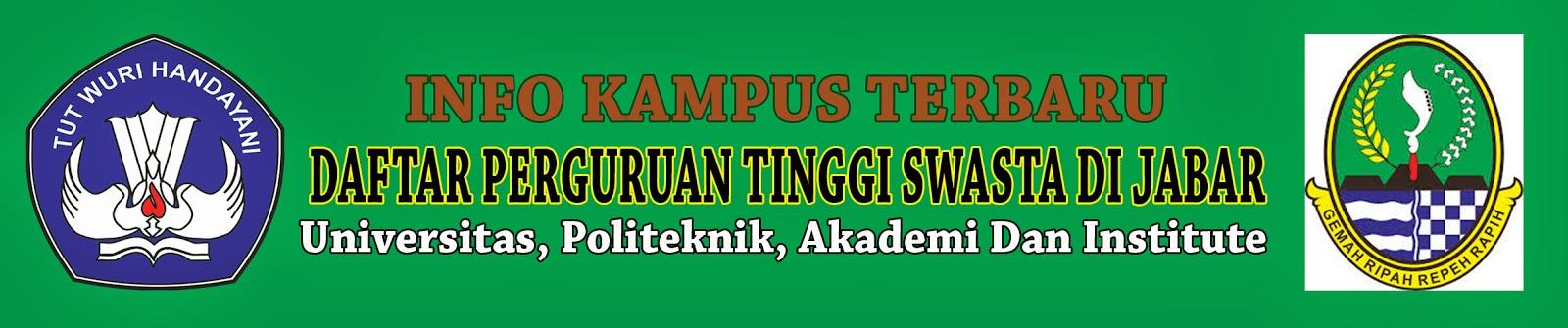 Daftar Perguruan Tinggi Swasta Di Jawa Barat