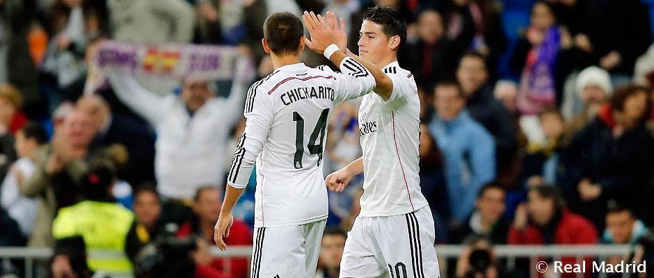 James y Chicharito, en el once ideal de la vuelta de los cuartos de la Champions