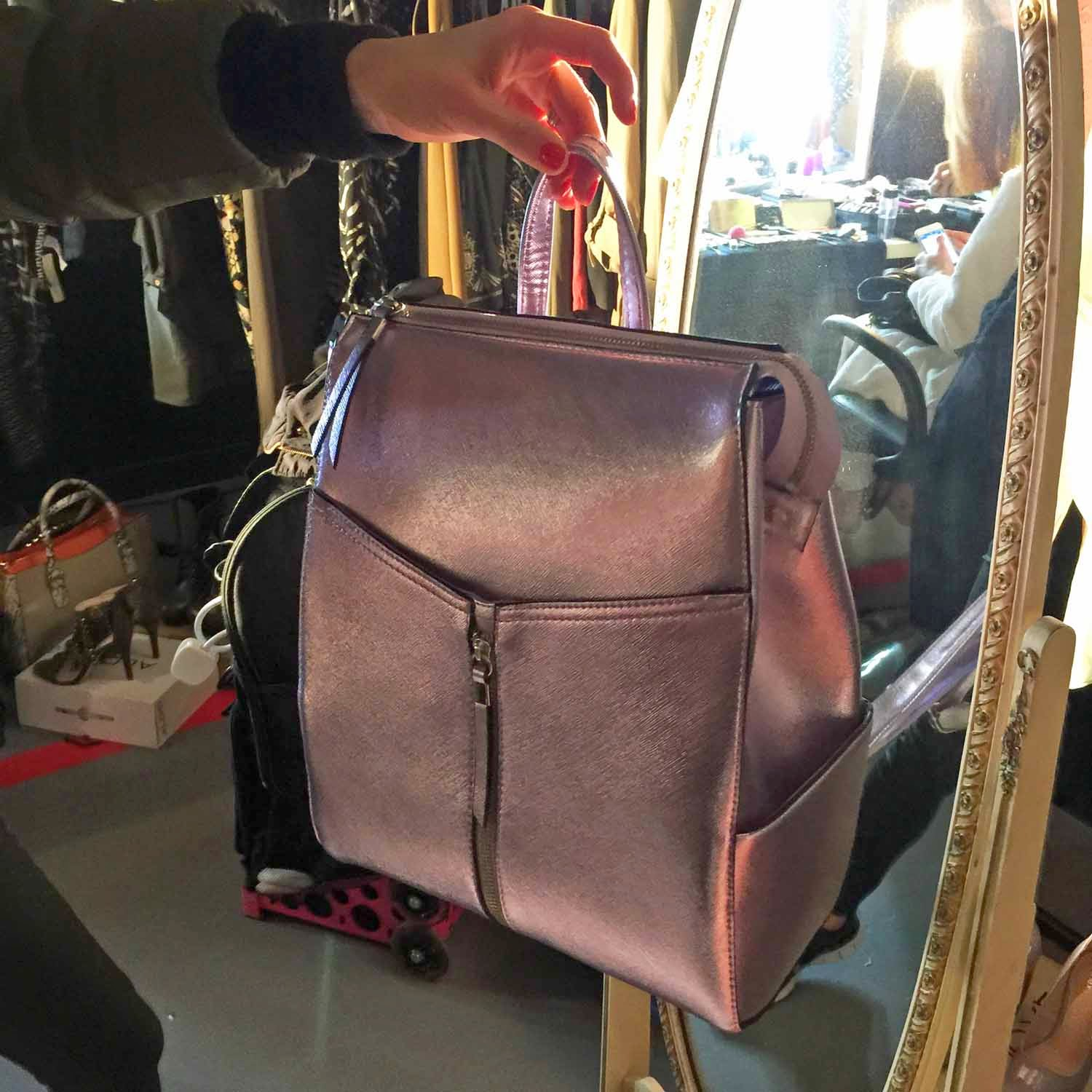 Metallic Pink Back Pack - New Look