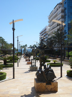 Dali sculptures on Avenida del Mar in Marbella, Spain