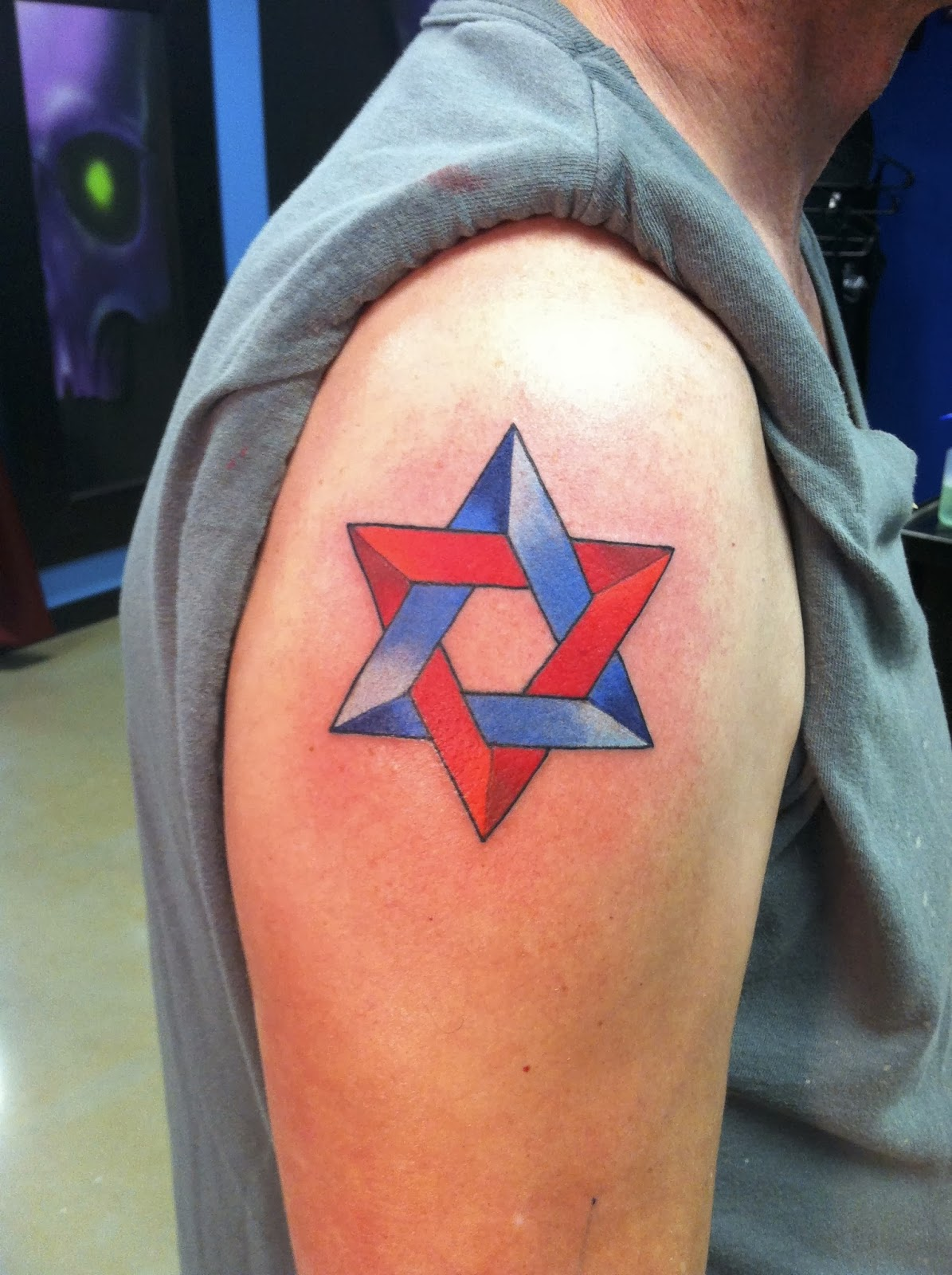 Tribal star of david tattoo designs the for Star of david tattoo designs
