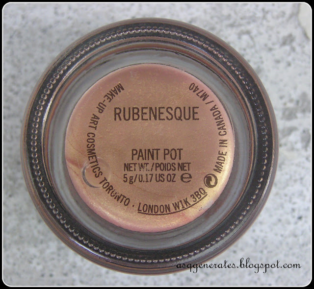 MAC Cosmetics, Rubenesque Paint-Pot label