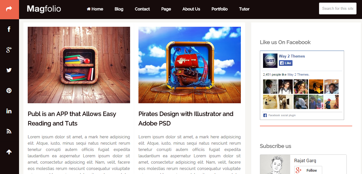 Download Magfolio Free Blogger Template