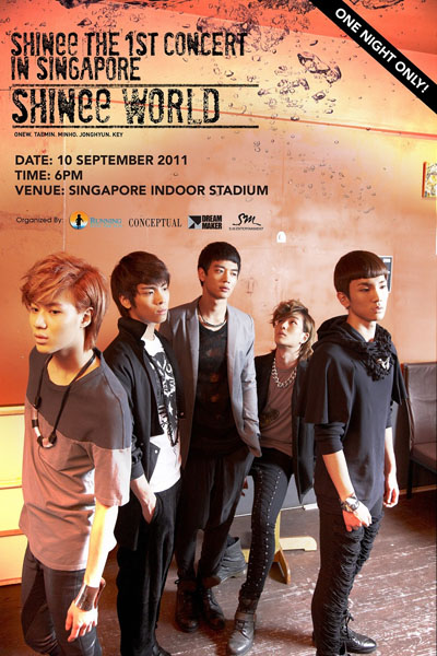 Daily K Pop News: SHINee World Tickets to launch on 30 Jul 2011 at ...