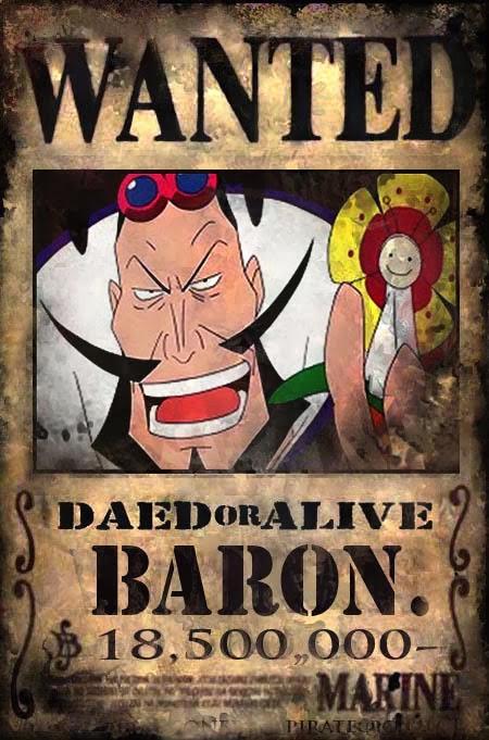 http://pirateonepiece.blogspot.com/2010/06/wanted-baron-omatsuri.html