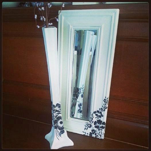Dorpel Badkamer Deur ~ Leuke vaas met bijbehorende spiegel voor boven een tafel of in een hal